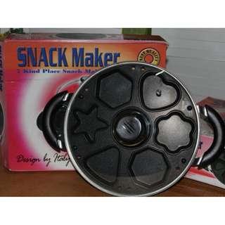 Snack Maker Star Pan Alat Pembuat Kue Sajian Lebaran - Hitam [7 Lubang]