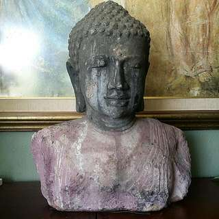 Very Old lavaStone Heavy Antique Buddha