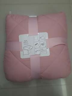 Bed cover informa pink, blue, navy