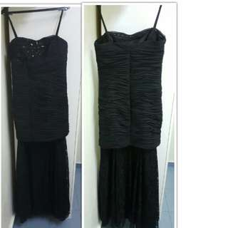 Prom Dinner Wedding Dress (Black)