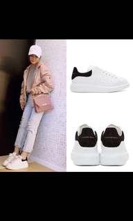 Alexander McQueen sneakers 黑色 黑尾 休閒鞋 女裝 波鞋 MCQ shoes McQueen 厚底鞋 現貨 McQueen黑尾 37/37.5