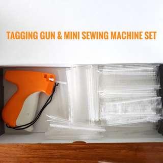 Tagging Gun and Mini Sewing Machine Set
