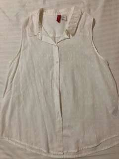 H&M white sleevless top