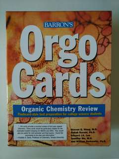 Orgo Cards by Barron's (organic chem flashcard)