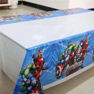 Table cover Avengers - Taplak Meja Plastik Pesta Karakter kartun hero captain amerika iron man hulk thor