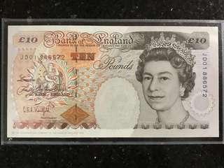 BANK OF ENGLAND £10 **JDO 1 8 8 6 5 7 2** Graham Kentfield LUCKY NOTE
