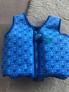 Watercolors safety swim vest 1-2yrs