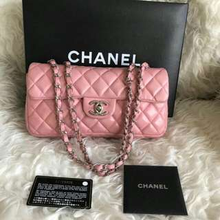 Chanel Medium Pink Lamb Shw#12
