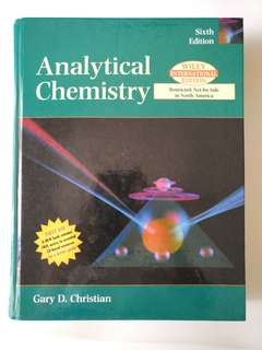 Analytical Chemistry 6th edition with CD