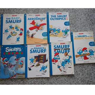 7 Smurfs comic books