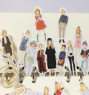 Girl Next Door Scrapbook / Planner Stickers #103