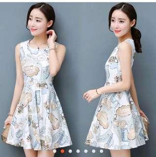 🚚 韓版無袖A字氣質洋裝