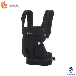 [Pre-Order] Ergobaby Four Position 360 Baby Carrier | Pure Black [BG-BC360ABLK]