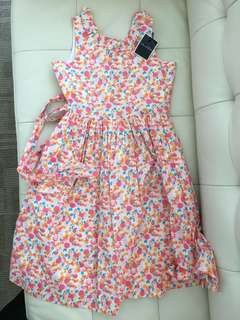 ORIGINAL Oscar De La Renta Kids Floral V Back Dress