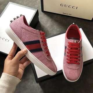 Gucci Glitter Web Sneakers