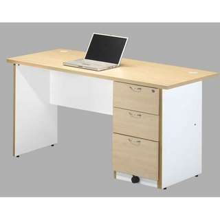New 6' Writing table with Fixed pedastal 2D1F