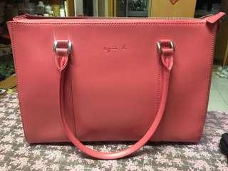 agnis b. 粉紅色手袋