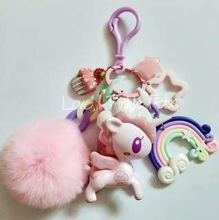 Tokidoki Ihascupquake unicorno razz bag charm fob