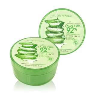 (NEW) ORIGINAL 100% HANDCARRY NATURE REPUBLIC 92% ALOE VERA GEL (STOK TERBATAS)