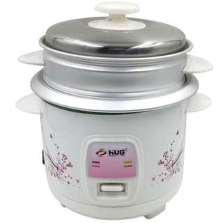 2-in-1 Rice Cooker 2.2 Liters w Steamer and Free Cup and Spatula - HUG