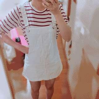 🚚 白色可愛吊帶裙