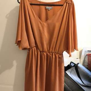 Love fashion dress size m/l orange pumpkin dress grecian