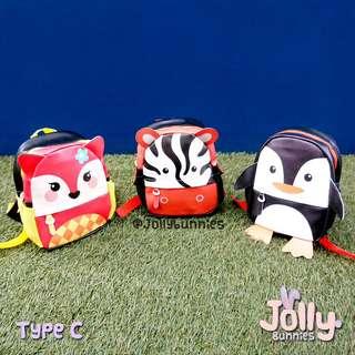 Tas anak lucu / tas selempang anak / tas animal printing / tas anak motif hewan