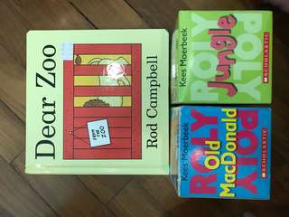 Roly poly book and lift the flap book
