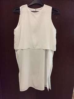 White split sleeveless top
