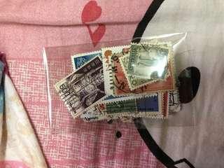 郵票(來自不同國家)(50枚)