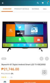 "BRANDNEW SKYWORTH 43"" ANDROID TV/SMART TV"