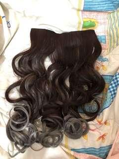 (NEW)Hair clip Ombre grey