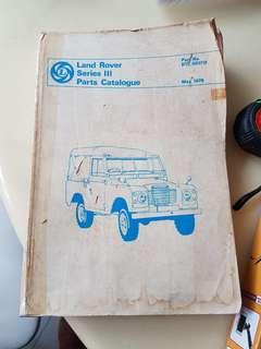 Land rover series 3 catalogue book