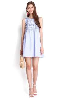 Lilypirates Bring On The Sunshine Dress In Blue Stripes