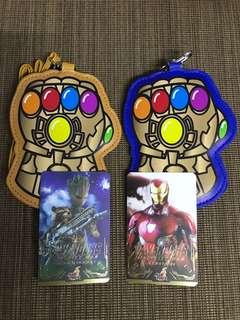 Hottoys Avengers Infinity War 戲院特別場贈品 無限手套+ironman卡