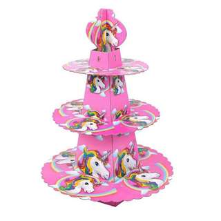 🦄 Unicorn theme party supplies - dessert stand / cupcake stand / party deco