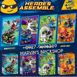 New Arrival Super Hero Mighty Micros 4in1 Building Blocks Toy