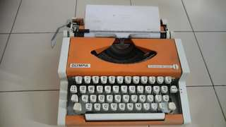 Vintage Typewriter( Olympia- manual)