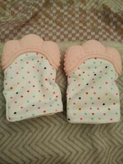 Baby teether gloves (candy wrapper sound)