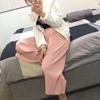 Korean pleated culottes