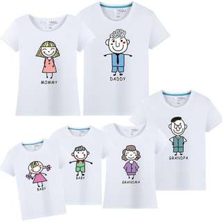 BMT473 - 3 Generation Cartoon Figure Family Tee *Cotton*