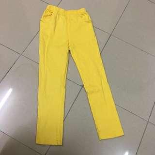 Girls Skinny Jeans Yellow