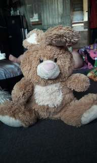 preloved boneka bunny rabbit kelinci coklat