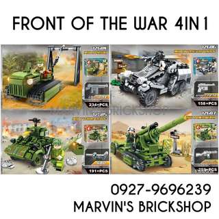 New Arrival Military Soldiers 4in1 Building Blocks Toy