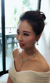 wedding gown/wedding bride makeup