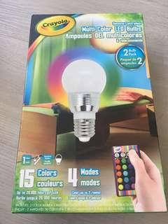 Crayola multi color led bulbs