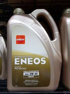 Eneos 5w40 fully synthetic engine oil servicing