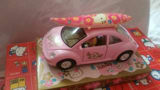 Hello Kitty 玩具 粉紅 車