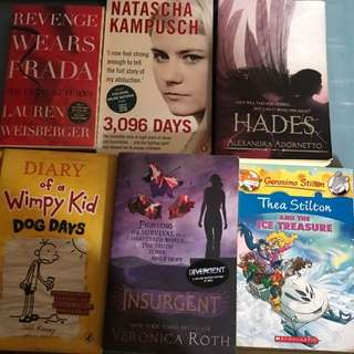 BOOKS - Insurgent / Geronimo Stilton / Marley & Me / Diary Of A Wimpy Kid