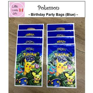 Pokemon Party Bag Blue